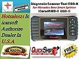 New Version iCARSOFT MBII for MERCEDES BENZ / SMART / SPRINTER OBD2 CAR DIAGNOSTIC SCANNER TOOL ERASE FAULT CODES SERVICE RESET BEST MB II MB2