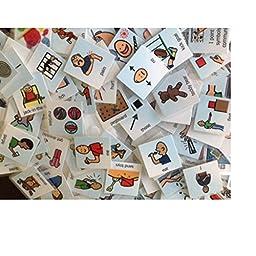 LOT 48 PECS CALM DOWN STRAT CARDS AUTISM SPEECH ABA THERAPY ASPERGER ASD APRAXIA
