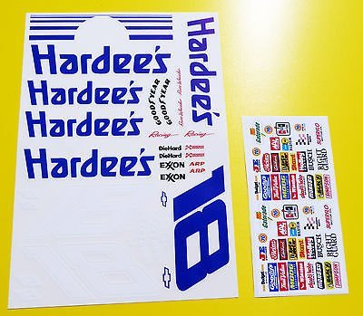 rc-nascar-days-of-thunder-hardees-decals-stickers-tamiya-xray-tc5-s18-kyosho