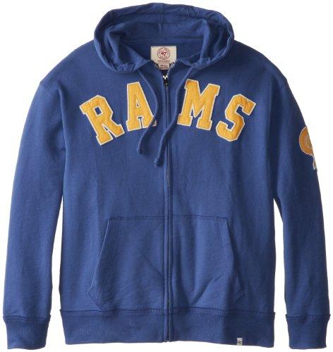 Nfl St. Louis Rams Men'S Striker Full Zip Jacket, Large, Bleacher Blue front-981381