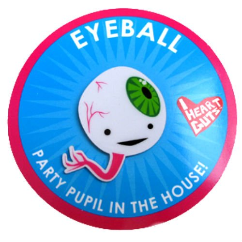 Eyeball Lapel Pin Aparty Pupil in the House I Heart Guts