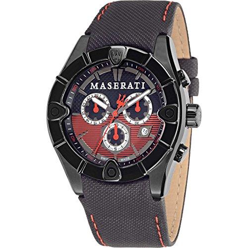MASERATI MECCANICA Collection - R8871611002 - Reloj de caballero analógico (Acero inoxidable, Crono, cristal de Zafiro)Swiss Made