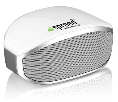 Spreed ® Bluetooth Altoparlante con Microfono incorporato per Smartphone e Tablet (Bianco)