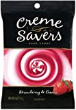 Creme Savers Hard Candy Strawberry &#038; Creme, 6-Ounce Bags (Pack of 12)