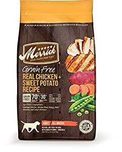 Merrick Grain Free Real Chicken and Sweet Potato Dog Food, 12-Pound