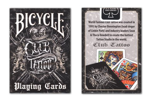 Bicycle Club Tattoo Deck Playing Cards