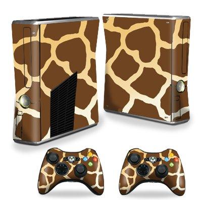 Protective Vinyl Skin Decal Cover for Microsoft Xbox 360 S Slim + 2 Controller Skins Sticker Skins Giraffe