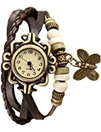 Latest Design Brown Leather Belt Bracelets Watch, Round White Dial Analog Watch For Womens, Girls And Ladies Classic...