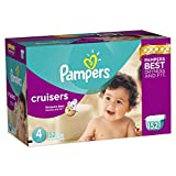 Give your baby our best protection and fit!Pampers diapers give baby up to 12 hours of protection, so your baby stays dry and comfortable. Pampers Cruisers are designed to move with your baby by adapting at the waist, legs and bottom. Less bulk than ...