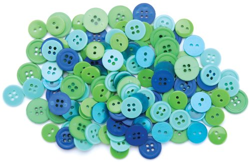 Learn More About Blumenthal Lansing Favorite Findings Basic Buttons Assorted Sizes, 130/Pkg, Ocean