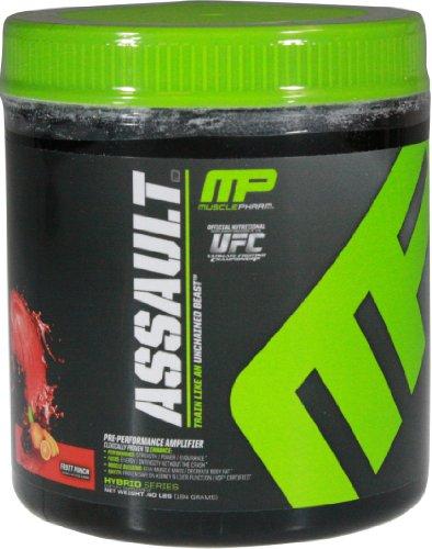 Muscle Pharm, Assault Pre-Performance Amplifier Fruit Punch 8 Servings