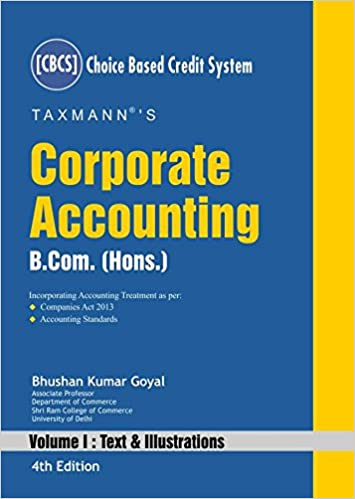 Corporate Accounting (B.Com. Hons. -CBCS) (Set of 2 Volumes) (4th Edition 2017)