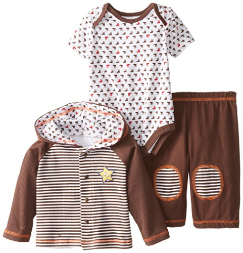 Vitamins Baby Baby-Boys Newborn Cowboy Boot Print 3 Piece Jacket Pant Set