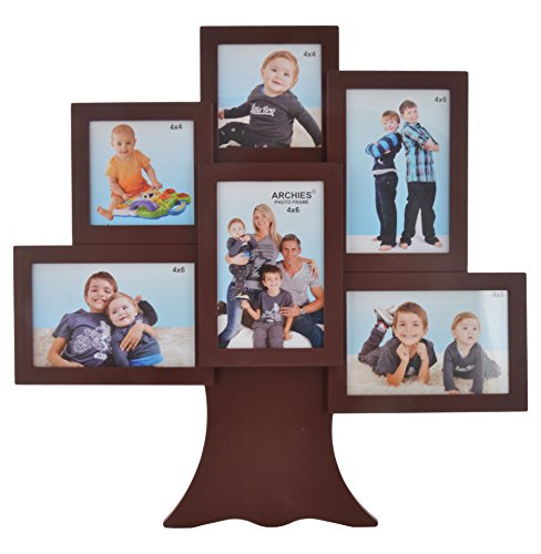 Archie Plastic And Glass Family Photo Frame (45 Cm X 45 Cm X 4 Cm, Black)
