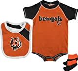 Cincinnati Bengals Infant Creeper, Bib, and Bootie Set Amazon.com