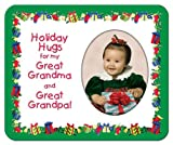 Holiday Hugs for Great Grandma & Great Grandpa Christmas - Photo Magnet Frame