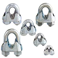 Non-Rust Zinc-Galvanized Steel Malleable Wire Rope Cable Clip Clamp - Choose from 6 Sizes from Pro