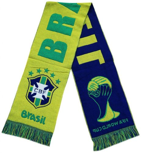 Brazil 2014 Worldcup Football Jacquard Scarf - Multicolour (Size: One Size) at Amazon.com
