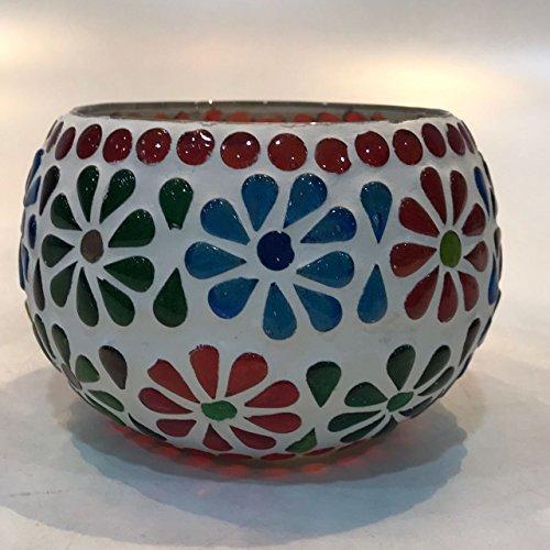 Dlite Crafts Multicolor Polka Design Home Decorative Votive Candle Holder, Set Of 2 PCs - B06XZM12M2
