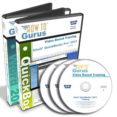 Intuit Quickbooks Pro 2013 And Microsoft Word Xp Tutorial Training On 3 Dvds, 17 Hours In 291 Video Lessons. Computer Software Video Tutorials.