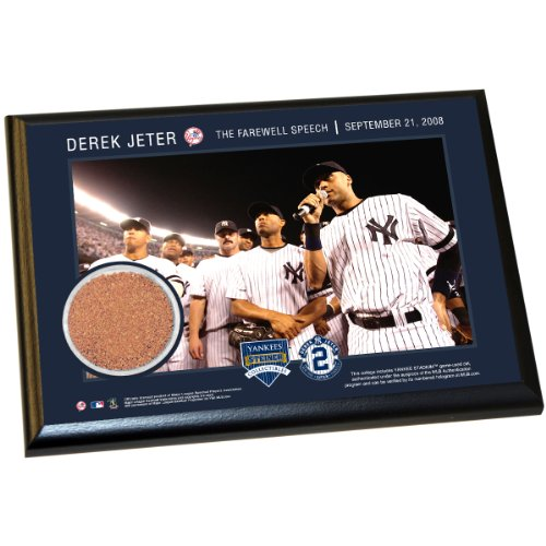Derek Jeter Moments: Farewell Speech 4X6 Dirt Plaque front-802968