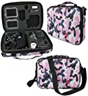 DURAGADGET Limited Edition Pink Camo Travel Armoured Protective Shell Storage Case With Shock Absorbing Foam & Carry Handle Designed For GoPro Headcams Including GoPro Hero 3 AHDBT-301 Camcorder - (Black, Silver and White Editions), HERO3+ CHDHX-302 / CHDHN-302, Hero 2, Hero 1, HD Hero 960 Cameras