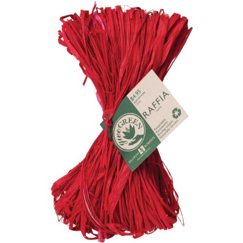 Jillson Roberts Natural Eco Raffia, Red, 6-Count (NR09)