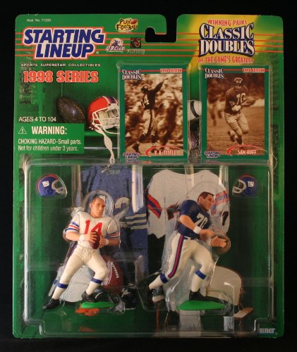 1998 Y.A. Tittle and Sam Huff NFL Classic Doubles Starting Lineup Figures at Amazon.com
