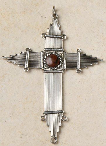 Peruvian Cross or Ornament - Jasper