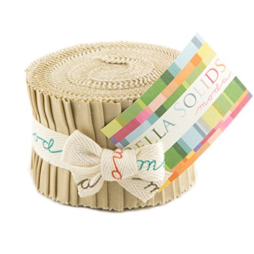 Bella Solids Tan Jr Jelly Roll (9900JJR 13) by Moda House Designer for Moda (Jelly Rolls Solids compare prices)
