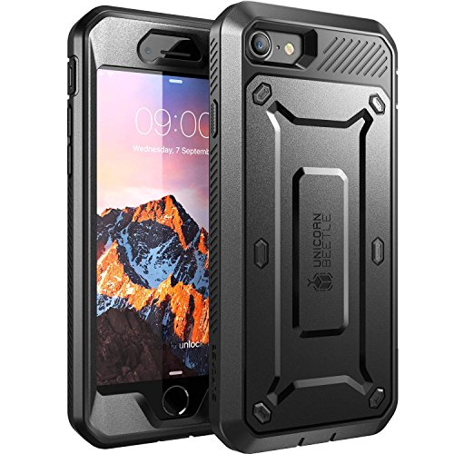 iPhone 7 Case, SUPCASE Full-body Rugged Holster Case with Built-in Screen Protector for Apple iPhone 7 (2016 Release), Unicorn Beetle PRO Series - Retail Package (Black/Black) (Unicorn Beetle Pro Series compare prices)