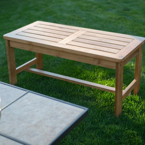 Coral Coast Arbor Wood Backless Fire Pit Bench -, Natural, Wood