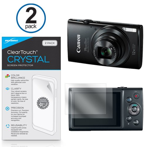 canon-powershot-elph-170-protector-de-pantalla-r-boxwave-cleartouch-crystal-2-pack-hd-film-skin-escu