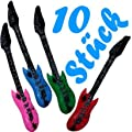 10 X Aufblasbare Luftgitarre Gitarre Party Rockstar Air Guitar Luftgitarren bei aufblasbar.de