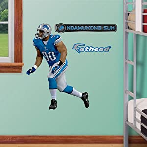 NFL Detroit Lions Ndamukong Suh Junior Wall Graphics by Fathead