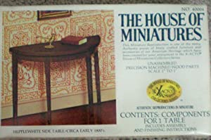 Doll House Dollhouse Furniture Miniature Hepplewhite Side Table Circa Early