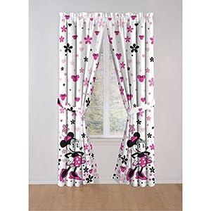 Amazon com disney minnie mouse window panels curtains drapes home