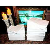 12 (1 Dozen) Pillow Cases Covers Standard Size Bright White T180 Percale ** Hotel Linen ** Atlas Brand