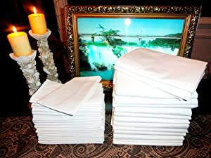1 Twin Size White Flat Bed Sheet 66x104 *** CRF (C)rease (R)esistant (F)inish - ATLAS Brand ***
