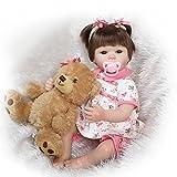 Fachel Reborn doll muñeca realista de silicona muñeca bebe dollsvinyl bebés recién nacidos 45cm 18inch como en la vida real Baby Doll muñeca Reborn chupete