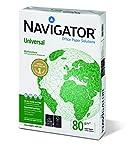 Navigator 108805 - Paquete de 500 hojas - Paquete de 500 hojas - Garantizado 99,99 % libre de atascos - Rendimiento incomparable - Papel multifuncional de 80 g