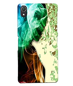 Fuson Smoky Girl Back Case Cover for SONY XPERIA Z2 - D4107