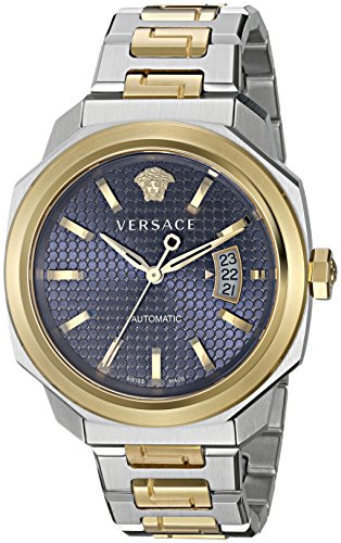 Versace-Mens-Dylos-Automatic-Stainless-Steel-Casual-Watch-ColorTwo-Tone-Model-VAG030016