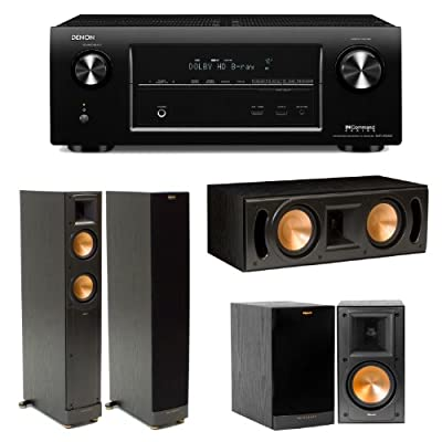 Denon AVR-X4000 In-Command 7.2 Channel 4K Ultra HD Networking Home Theater Receiver Plus (1) Pair of Klipsch RF-52 II Floorstanding Speakers, (1) Pair of Klipsch RB51 II Bookshelf Speakers & (1) Klipsch RC52 II Center Channel Speaker from Denon