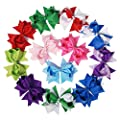 """Mike & Mary® 5"""" Large Hair Bows Hair Clips for Girls Boutique Bows Hair Barrettes accessories for Women"""