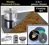 Wenko 3085620500 11 x 6 cm Diamond Clean 2-in-1 Power Cleaner 100 g Paste Stainless Steel Sponge
