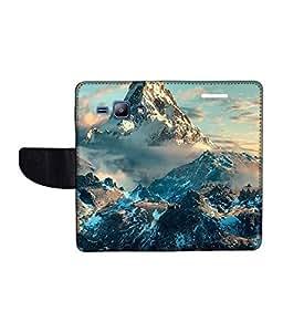 KolorEdge Printed Flip Cover For Samsung Galaxy J1 Multicolor - (1476-45KeMLogo11433SamJ1)