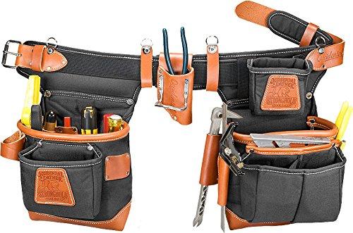 Occidental Leather 9850LH Adjust-to-Fit(TM) Fat Lip(TM) Tool Bag Set - Black - Left