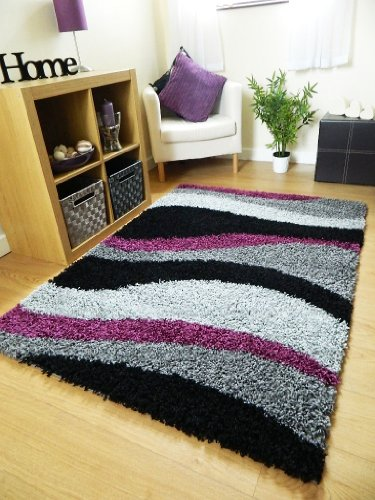 small-extra-large-rug-new-modern-soft-thick-black-silver-grey-purple-waves-shaggy-rug-non-shed-shag-
