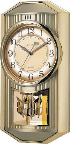 Gold Pendulum Melodies in Motion Wall Clock by Control